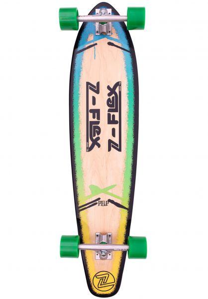 Z-Flex Longboards komplett P.O.P Roundtail 39´´ blue-fade vorderansicht 0194351