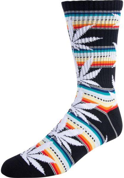 HUF Socken Serape Plantlife black vorderansicht 0631546
