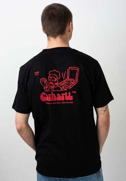 Carhartt WIP Red S//S Bene T-Shirt Black