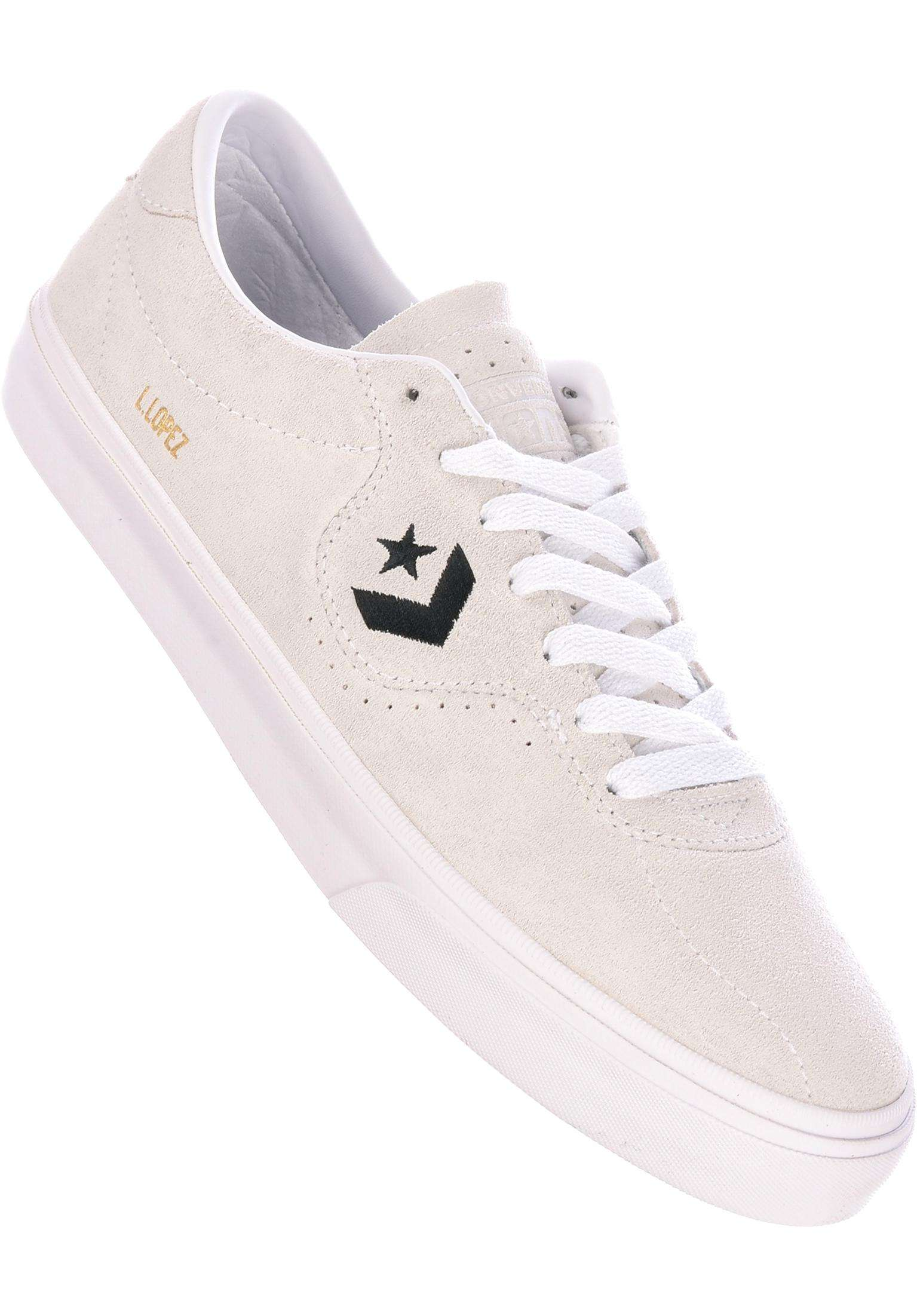 52000ef12569c2 Louie Lopez Pro OX Converse CONS All Shoes in white-white-black for Men