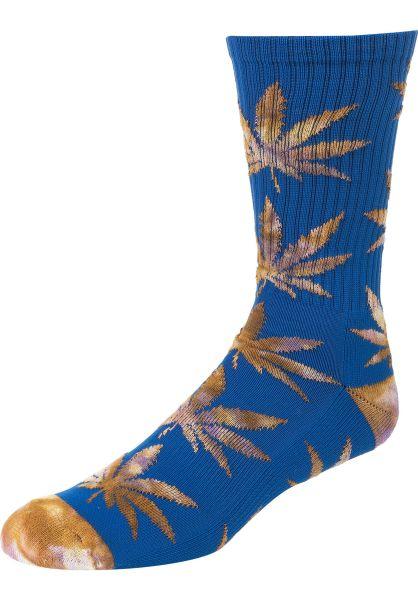 HUF Socken Plantlife Tiedye Leaves olympianblue vorderansicht 0631991