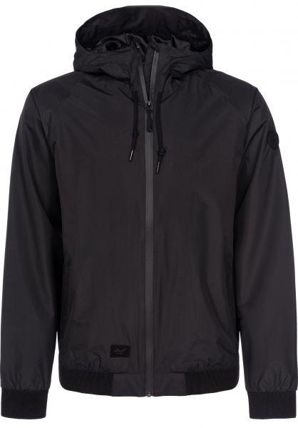 Reell Übergangsjacken Hooded Rib Jacket black Vorderansicht