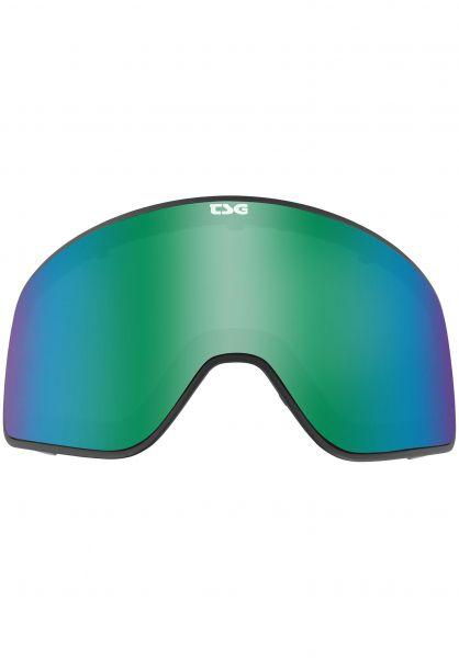 TSG Snowboard-Brille Replacement Lens Goggle Amp green chrome vorderansicht 0340133