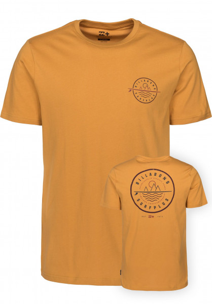 billabong tshirt  Crossboard Billabong T-shirt in mustard da Uomo | Titus