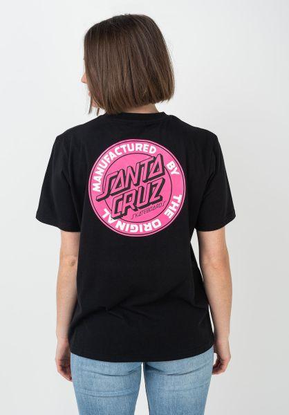 Santa-Cruz T-Shirts MFG Dot Wmn black vorderansicht 0397697