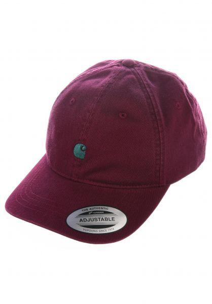 Carhartt WIP Caps Madison Logo Cap merlot-darkfir vorderansicht 0565940