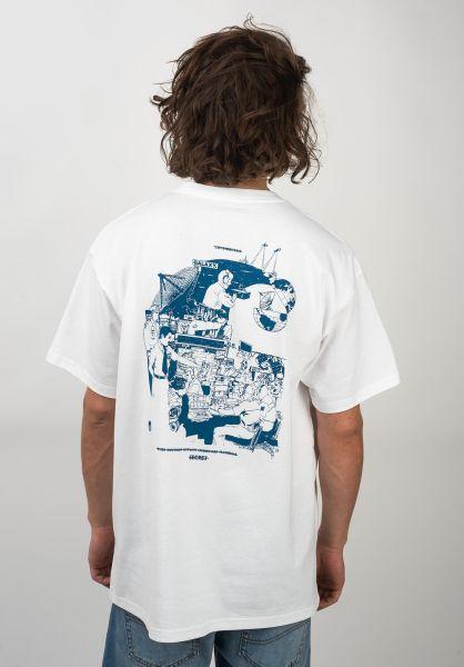 Carhartt WIP T-Shirts Radio white-blue vorderansicht 0320600