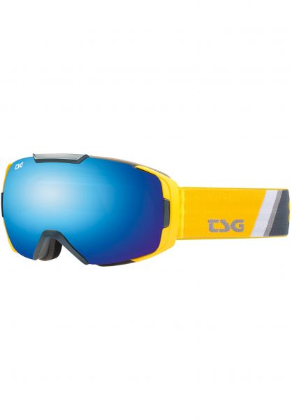 TSG Snowboard-Brille Goggle One sliced-blue chrome Vorderansicht 0340120