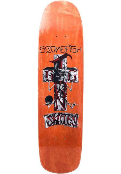 Dogtown Skateboard Decks Stonefish Pool orange vorderansicht 0260128