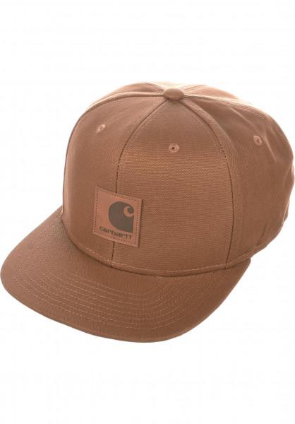 Carhartt WIP Caps Logo hamilton-brown Vorderansicht