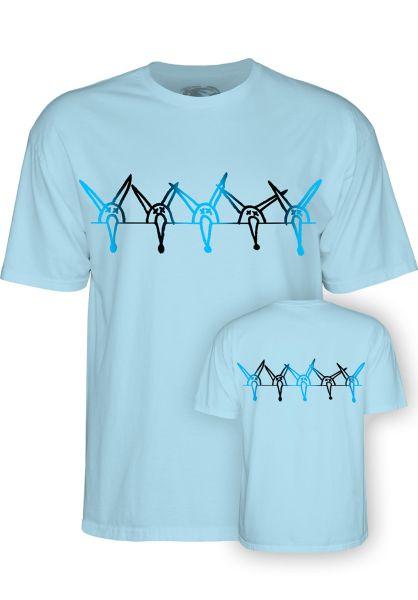 Powell-Peralta T-Shirts Vato Rat Band Kids powder-blue vorderansicht 0398317