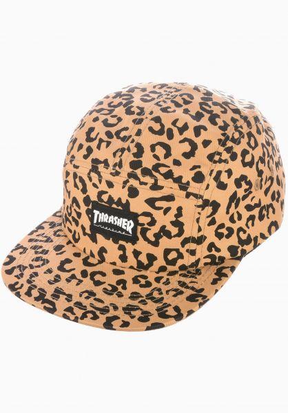 Thrasher Caps 5-Panel Hat cheetah vorderansicht 0562710