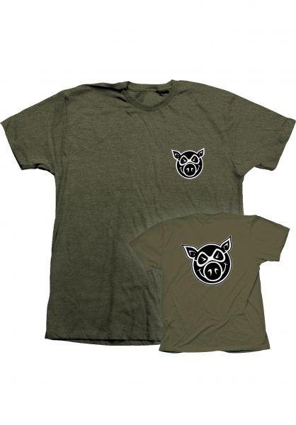 Pig T-Shirts Pig Head F&B military vorderansicht 0393475