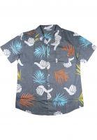 Bro-Style-Hemden-kurzarm-Tropic-Print-charcoal-Vorderansicht