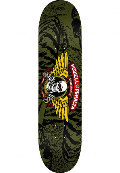 Powell-Peralta Skateboard Decks Winged Ripper Birch olive vorderansicht 0260294
