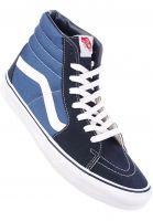 Vans-Alle-Schuhe-Sk8-Hi-navy-white-Vorderansicht