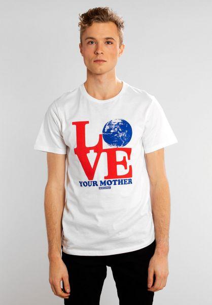Dedicated T-Shirts Love Mother white vorderansicht 0321129