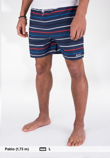 Forvert Beachwear Lake navy-striped Vorderansicht