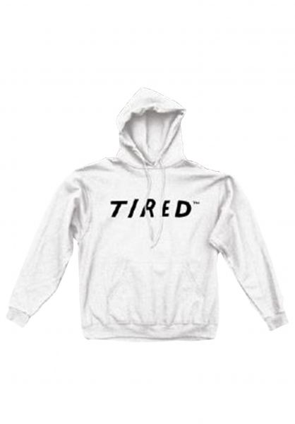 Tired Hoodies Uppercase Logo white vorderansicht 0445411