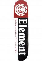 Element-Skateboard-Decks-Section-black-white-red-Vorderansicht