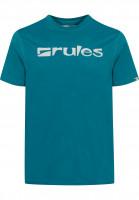 Rules T-Shirts Basic petrol-grey Vorderansicht