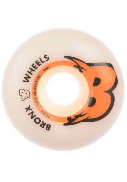 Bronx Wheels Rollen Big B Regular Shape 99A white-orange vorderansicht 0135126