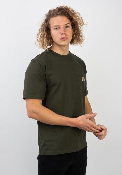 Carhartt WIP T-Shirts Pocket cypress vorderansicht 0393365