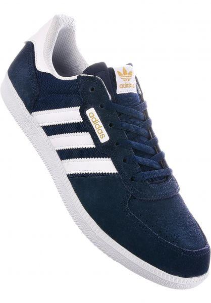 adidas-skateboarding Alle Schuhe Leonero navy-white-gold Vorderansicht