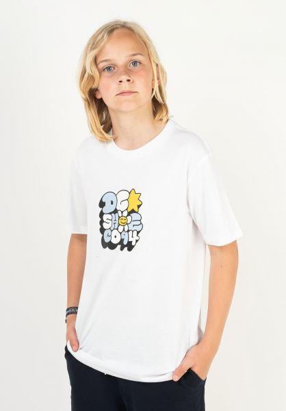 DC Shoes T-Shirts Bubble Fun Kids white vorderansicht 0324172