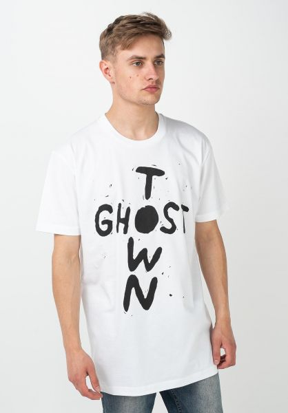 Lousy Livin T-Shirts Ghost Town white vorderansicht 0322356