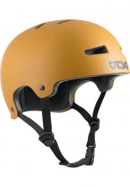 TSG Helme Evolution Solid Colors satin yellow ochre vorderansicht 0075046