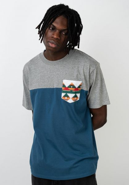 TITUS T-Shirts Ashook Pocket greymottled-stellar vorderansicht 0320802