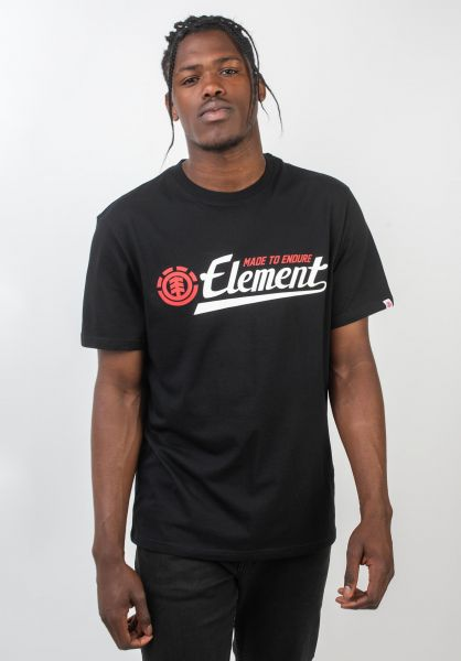 Element T-Shirts Signature flintblack vorderansicht 0393060