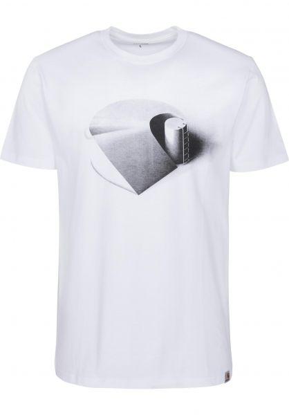 Carhartt WIP T-Shirts Ramp white-black Vorderansicht