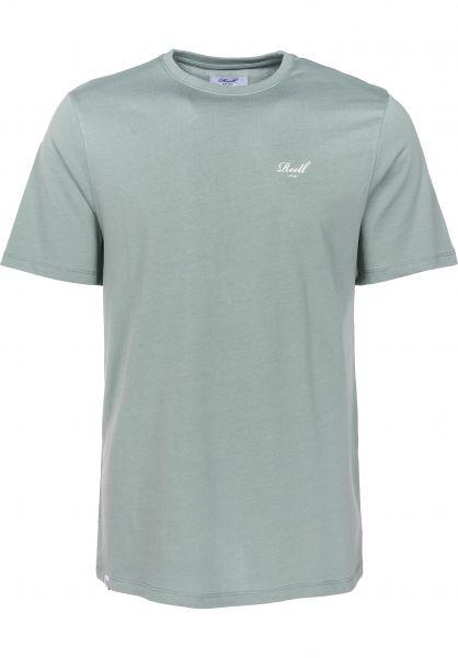 Reell T-Shirts Small Script lightgreen Vorderansicht
