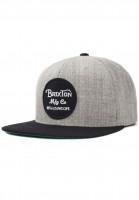 Brixton Caps Wheeler lightheathergrey-black Vorderansicht