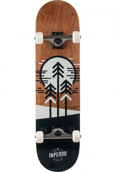 Inpeddo Skateboard komplett Forest brown vorderansicht 0161921
