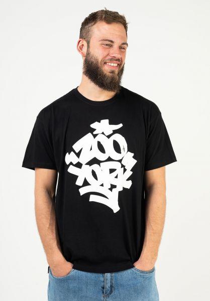 Zoo York T-Shirts Fat 'N' Juicy black vorderansicht 0399193