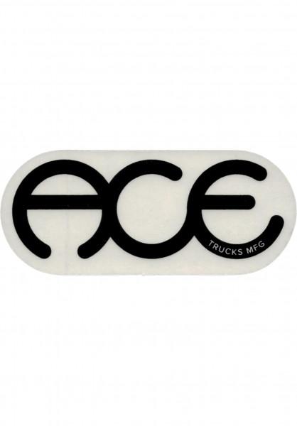 """Ace Verschiedenes Rings Logo Sticker 6"""" clear-black Vorderansicht"""