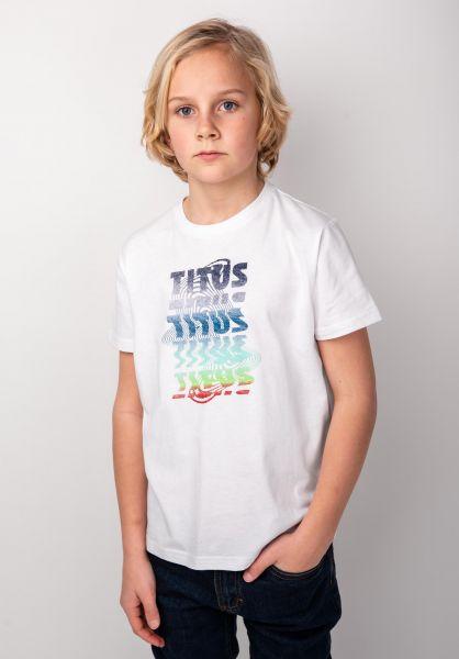 TITUS T-Shirts Scan Kids white vorderansicht 0398394
