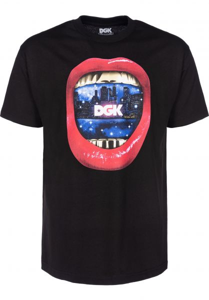 DGK T-Shirts Sounds black Vorderansicht