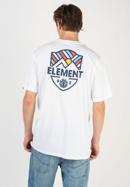 Element T-Shirts Beaming opticwhite vorderansicht 0322630