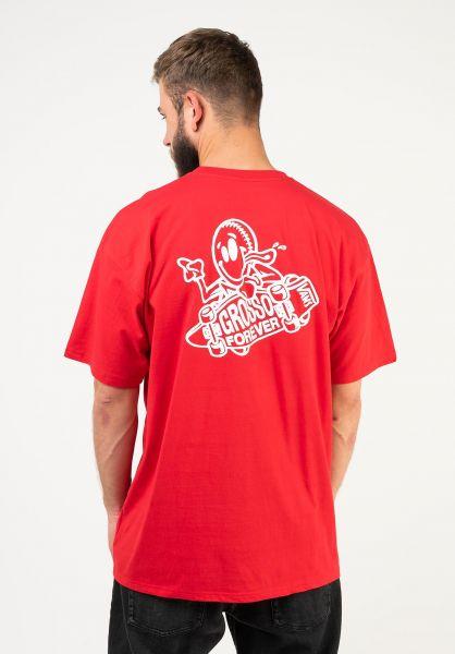 Vans T-Shirts Grosso Skate racingred vorderansicht 0324027