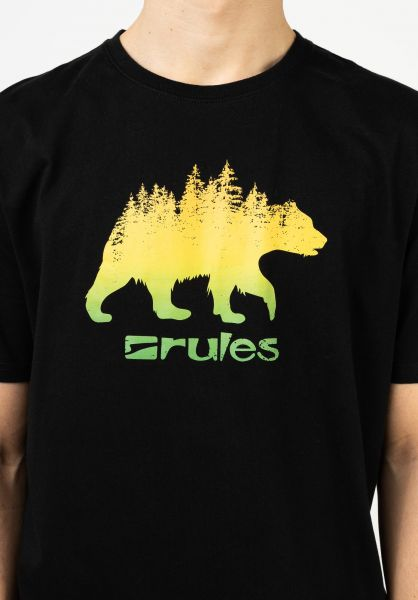 Rules T-Shirts Grizzly Woods black vorderansicht 0399359