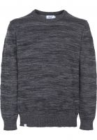 Reell Strickpullover Knitted Striped darkgrey Vorderansicht