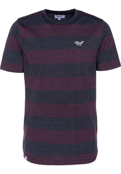 Reell T-Shirts Striped navy-cardinalred vorderansicht 0398961