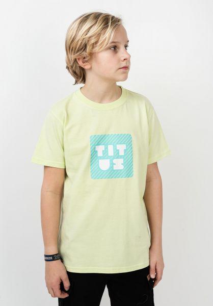 TITUS T-Shirts Typo Kids patina-green vorderansicht 0320204