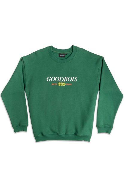 Goodbois Sweatshirts und Pullover Classic Trademark Crewneck forest vorderansicht 0422899