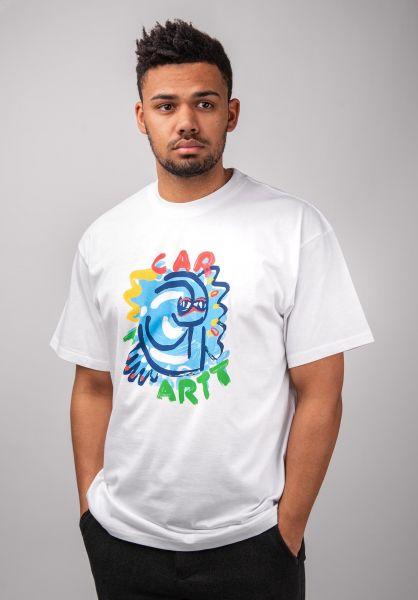 Carhartt WIP T-Shirts Touri white vorderansicht 0399703