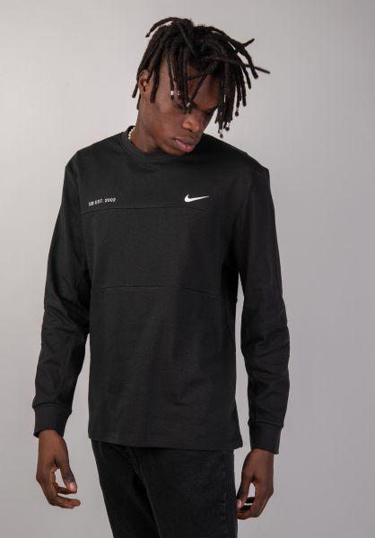 Nike SB Longsleeves DFT Mesh black-white vorderansicht 0383394